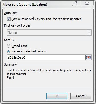 More options in Excel PivotTables