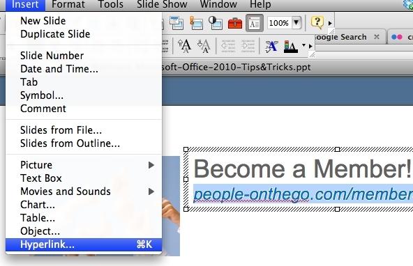Insert Hyperlink in PowerPoint