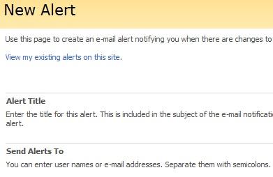 SharePoint Alert