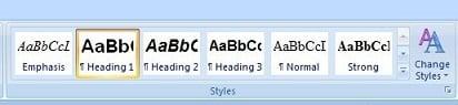 Microsoft Word 2007 Styles