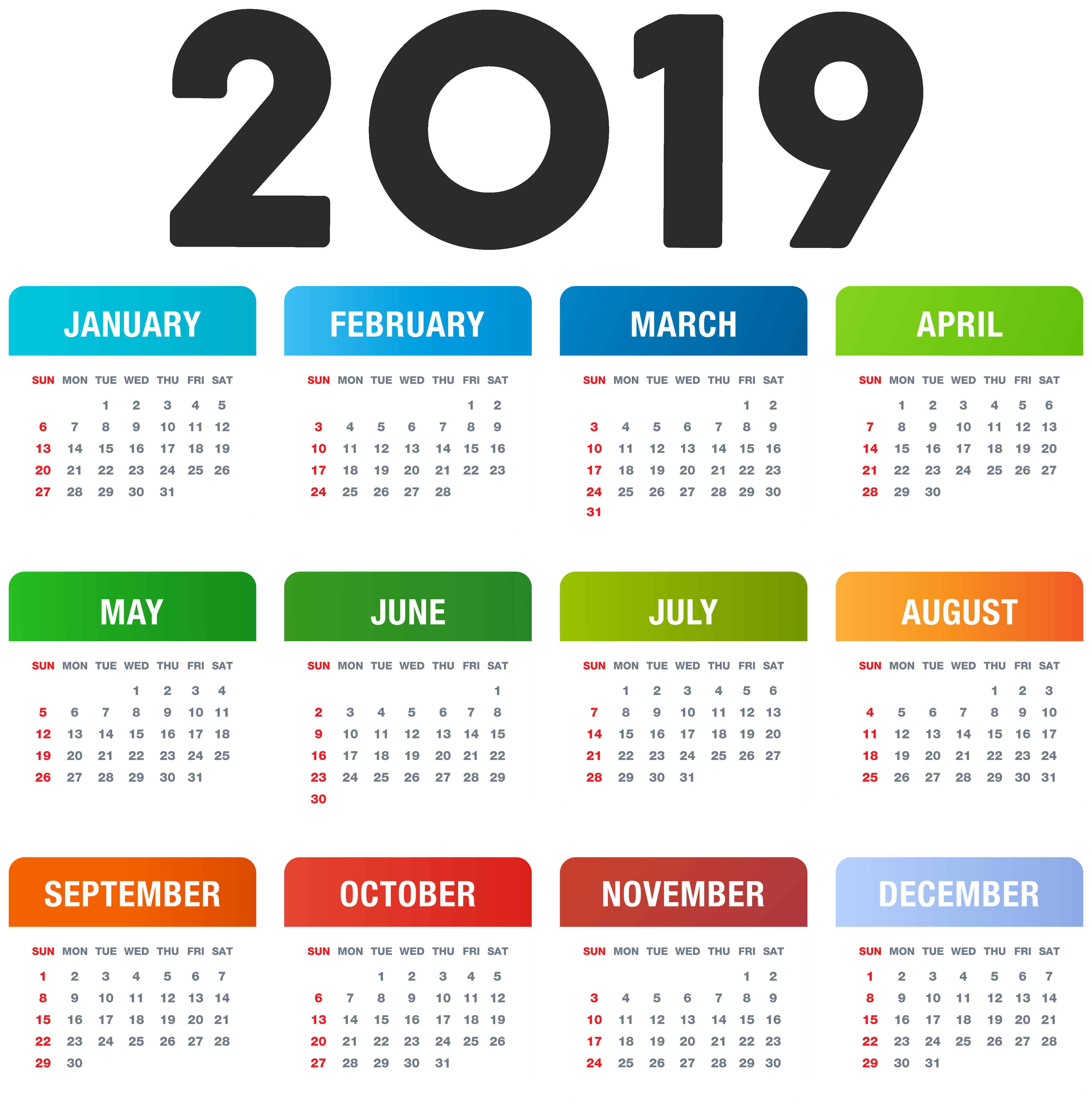 2019_Calendar_Colorful_Transparent_PNG_Image-1